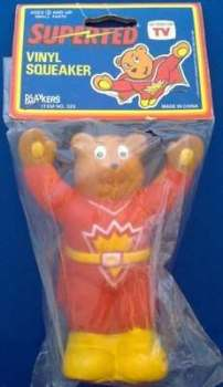 Superted Vinyl Squeaker Toy - NEW