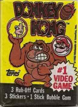 Donkey Kong Cards And Stickers