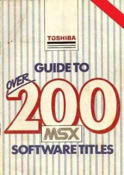 Guide To Over 200 MSX Software Titles Catalogue