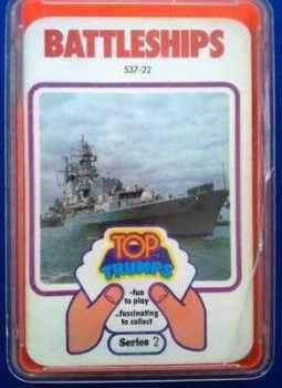 Top Trumps - Battleships (Series 2) [orange case]