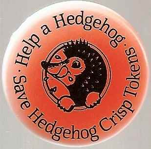 Hedgehog Crisps - Help A Hedgehog Badge