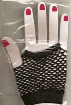 Madonna-style Black Fishnet Fingerless Gloves - NEW
