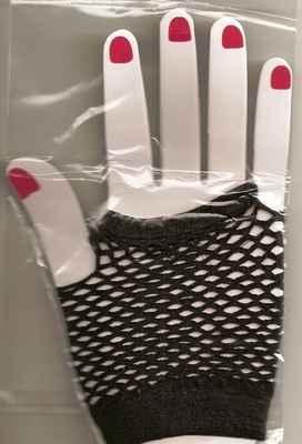Madonna-style Black Fishnet Fingerless Gloves - NEW