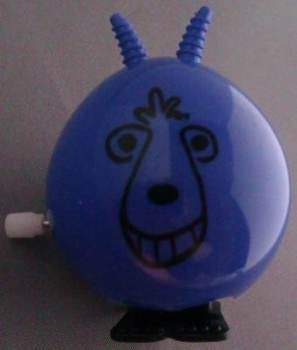Wind Up Space Hopper - Blue - NEW