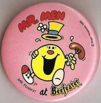 Mr Men - Mr Funny Beefeater Badge