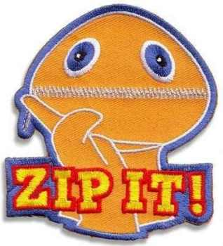 Rainbow - Zippy - Zip It! Embroidered Patch - NEW