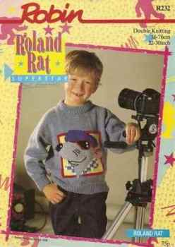 Roland Rat Jumper / Sweater Knitting Pattern (R232)
