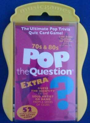 70s And 80s Pop The Question Card Game - NEW