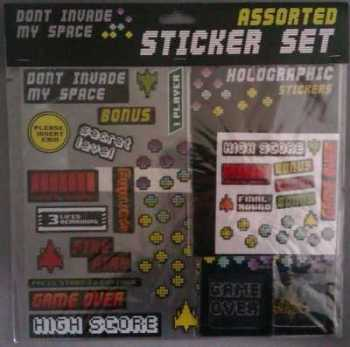 Space Invaders Style Sticker Set - NEW