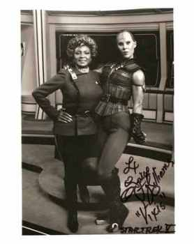 "Spice Williams ""Vixis"" And Nichelle Nichols ""Uhura"" Signed Photo"