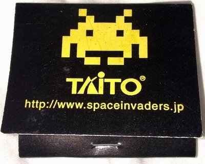 Space Invaders Matchbook
