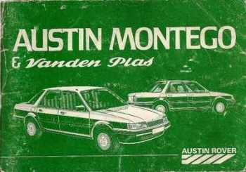 Austin Rover Montego 2.0 And Vanden Plas Handbook - 1984