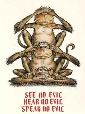 Michael Terry - Three Monkeys Postcard