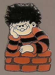 Beano - Dennis The Menace Metal Pin Badge [w] - NEW