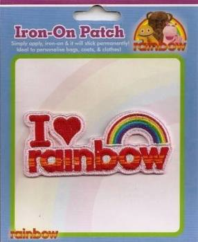 I Love Rainbow Embroidered Patch - NEW