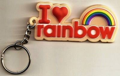 I Love Rainbow Keyring - NEW