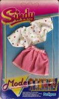 Sindy Mode Outfit - White Heart Top And Pink Skirt - 43147 - NEW