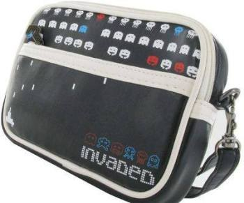Joystick Junkies - Black And White Invaded Handheld Console Bag - NEW