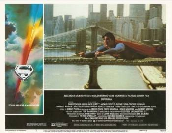 Superman The Movie Print - Superman Flying - NEW