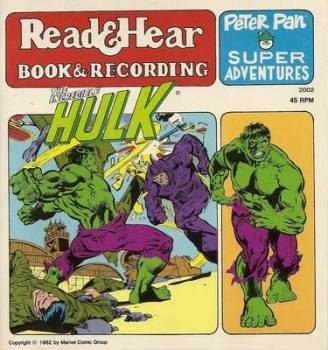 The Incredible Hulk - Peter Pan Super Adventures - Read & Hear - Book & Recording - 1982