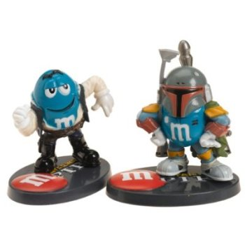 Star Wars / M&Ms - Chocolate Mpire - Boba Fett & Han Solo Figures - NEW