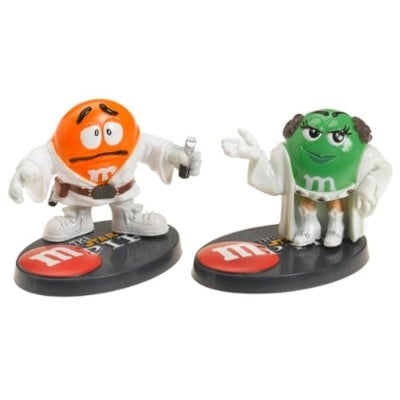 Star Wars / M&Ms - Chocolate Mpire - Luke Skywalker & Princess Leia Figures