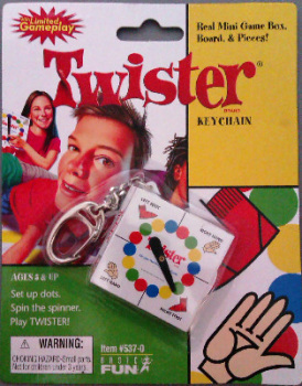 Twister Mini Game Keyring - NEW