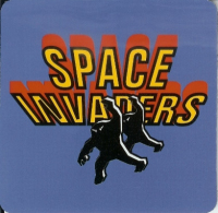 Space Invaders Square Coaster - NEW