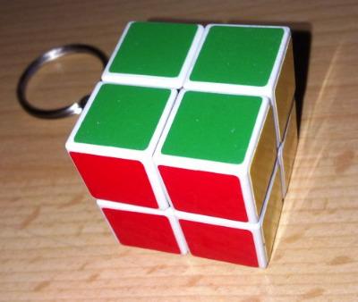 Mini Puzzle Cube Keyring - NEW