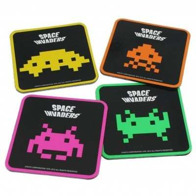 Space Invaders Coasters - Set Of 4 - NEW