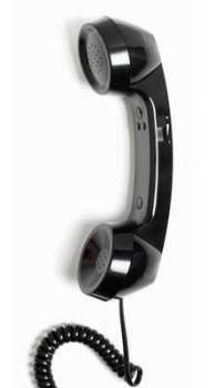 Retro Phone Handset - Bowler Hat Black - NEW