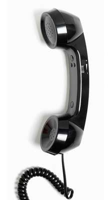 Retro Phone Handset - Bowler Hat Black - NEW