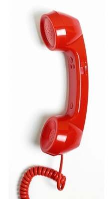 Retro Phone Handset - Pillar Box Red - NEW