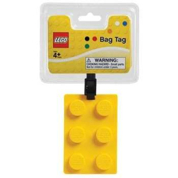 LEGO Yellow Luggage Bag Tag - NEW