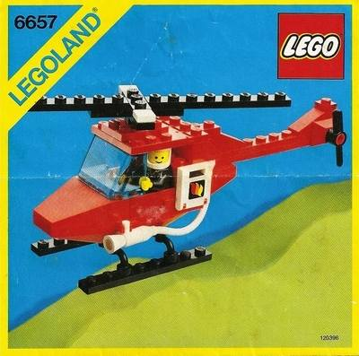 LEGO Instructions - Fire Patrol Copter (6657)