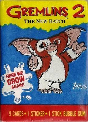 Gremlins : The New Batch - Cards And Sticker - Gizmo Wrapper - NEW