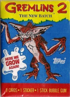 Gremlins : The New Batch - Cards And Sticker - Mohawk Wrapper - NEW