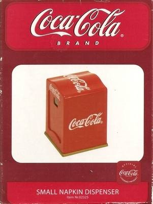 Coca Cola Retro Style Napkin Dispenser - NEW - RARE