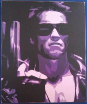 Terminator - Arnold Schwarzenegger - Print On Wood