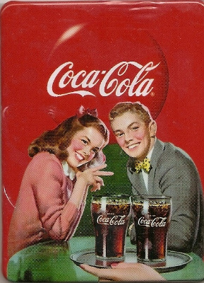 Coca Cola Vintage Style Magnet - Boy And Girl With Glasses - NEW