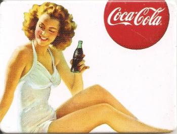 Coca Cola Vintage Style Magnet - Brunette Girl Holding Bottle - NEW