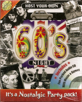Host Your Own 60s Night - Includes Audio CD - NEW