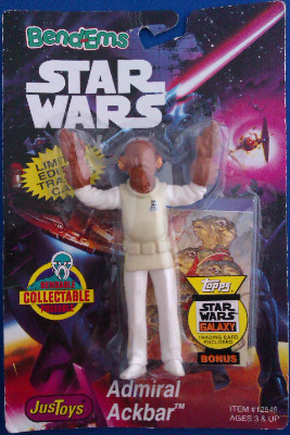 Star Wars - Bend-Ems - Admiral Ackbar Figure - NEW
