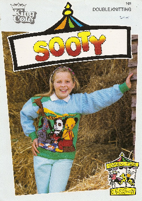 Sooty Jumper / Sweater - Knitting Pattern - King Cole