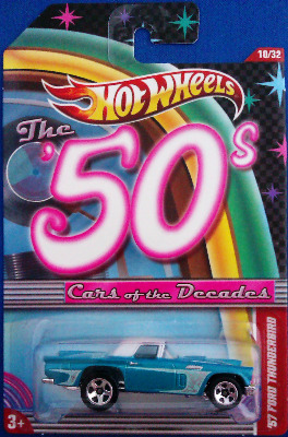 Hot Wheels - Cars Of The Decades : 50s - '57 Ford Thunderbird - NEW