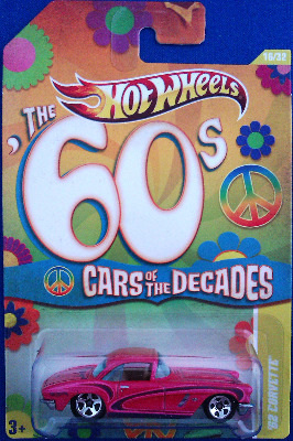 Hot Wheels - Cars Of The Decades : 60s - '62 Corvette - NEW