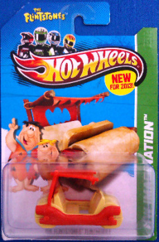 Hot Wheels - The Flintstones - Flintmobile - 2013 Version - NEW