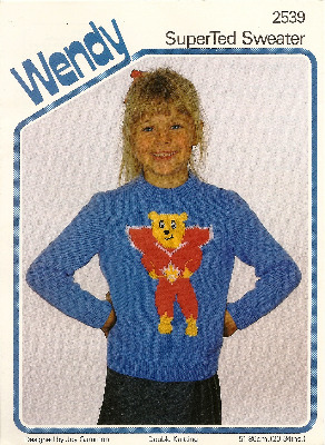 SuperTed Jumper / Sweater Knitting Pattern