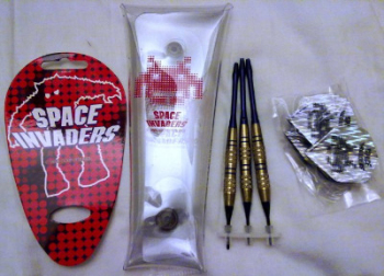 Space Invaders 25th Anniversary Set Of Darts - RARE