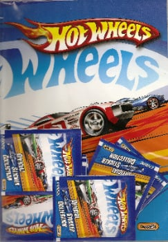 Hot Wheels - Official Sticker Collection - Album Plus 8 Packets Of Stickers - NEW